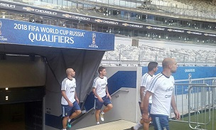 Players enter