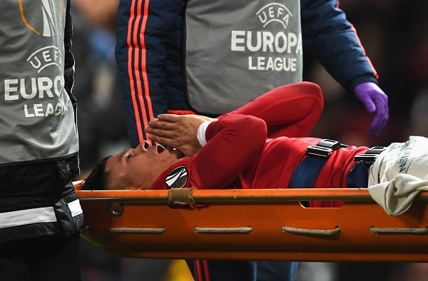 Marcos Rojo Manchester United injured