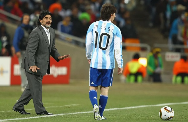 Diego Maradona comments on Lionel Messi Argentina