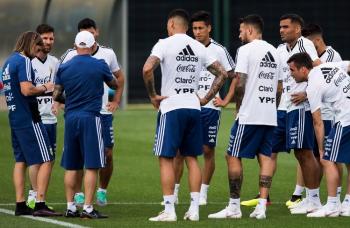Argentina team training