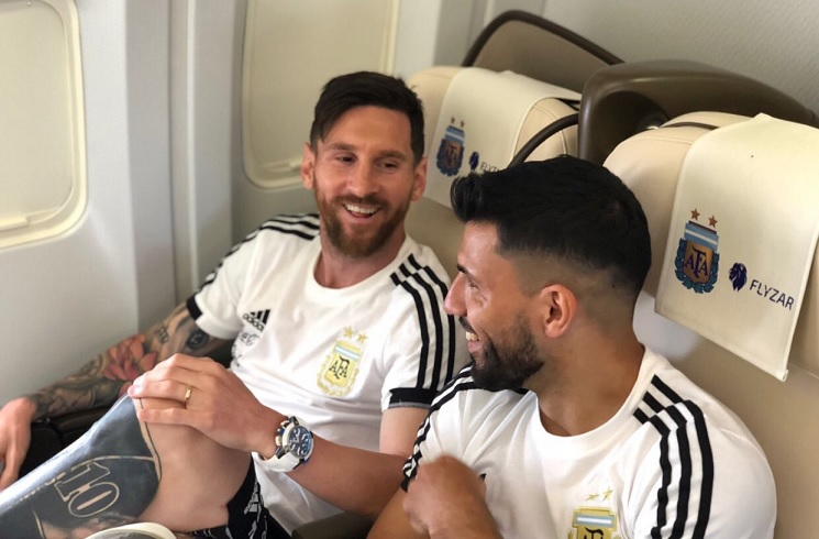 Argentina National Team lands in Russia for World Cup  e9660b40a