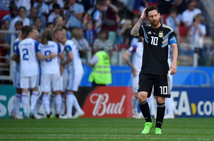 673c31bd3be Lionel MESSI penalty miss as Argentina draw Iceland at World Cup ...