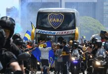 Boca Juniors bus