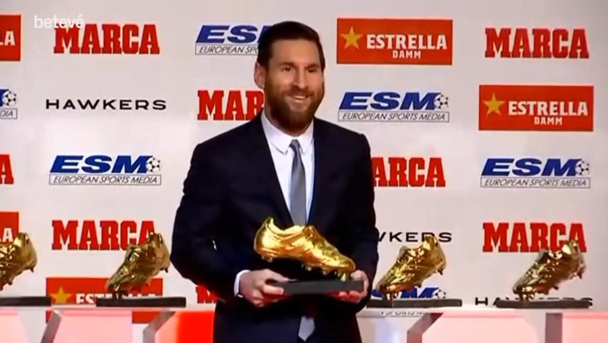 Messi wins record 5th Golden Shoe award