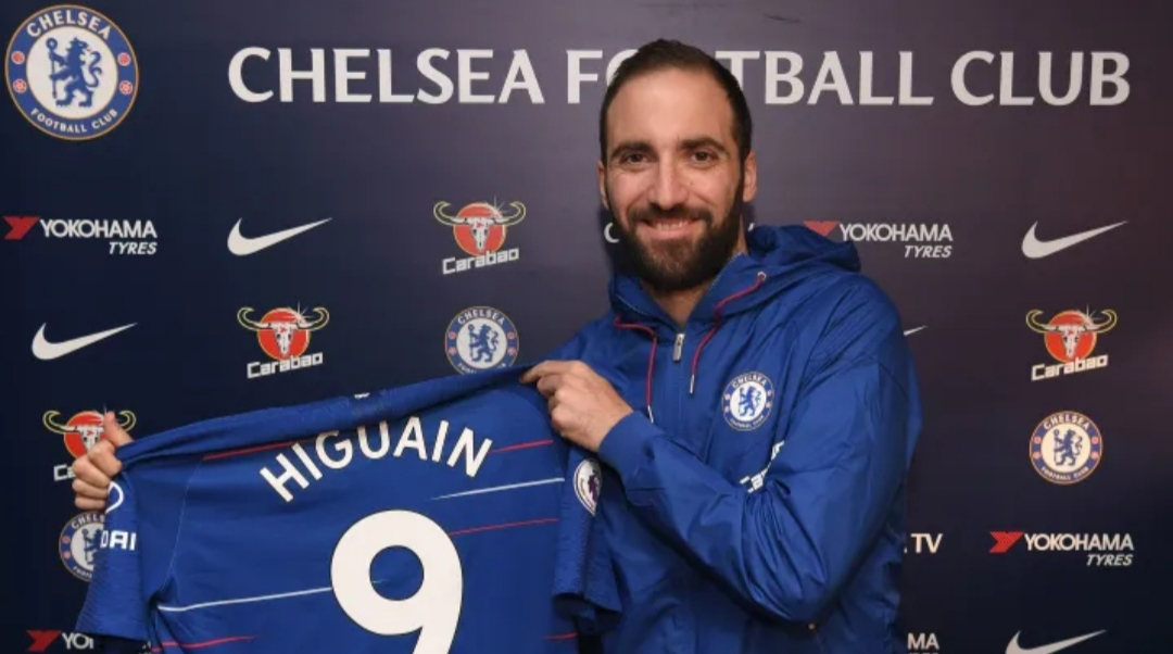 bd0fcbfb882 Argentina striker Gonzalo HIGUAIN signs with Chelsea