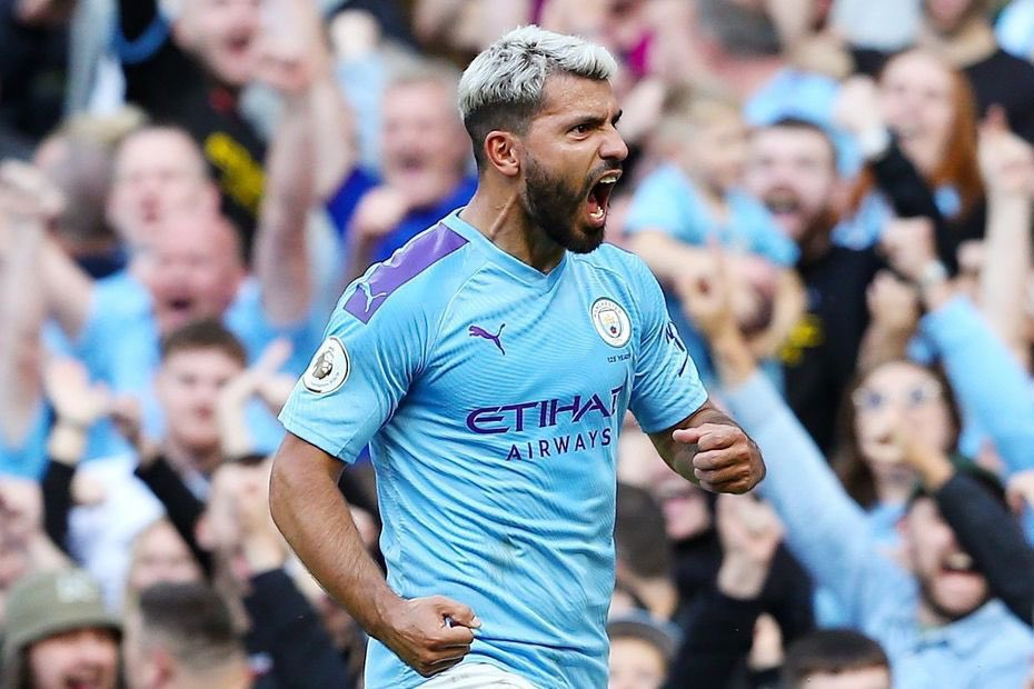 Sergio AGUERO with two goals for Manchester City vs. Brighton