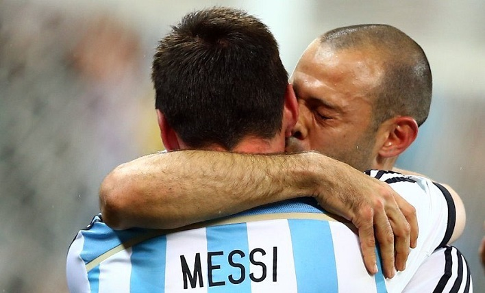 Javier Mascherano Lionel Messi