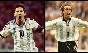Lionel Messi Gabriel Batisuta
