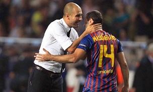 Pep Guardiola Javier Mascherano