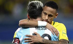 Lionel Messi Neymar Brazil
