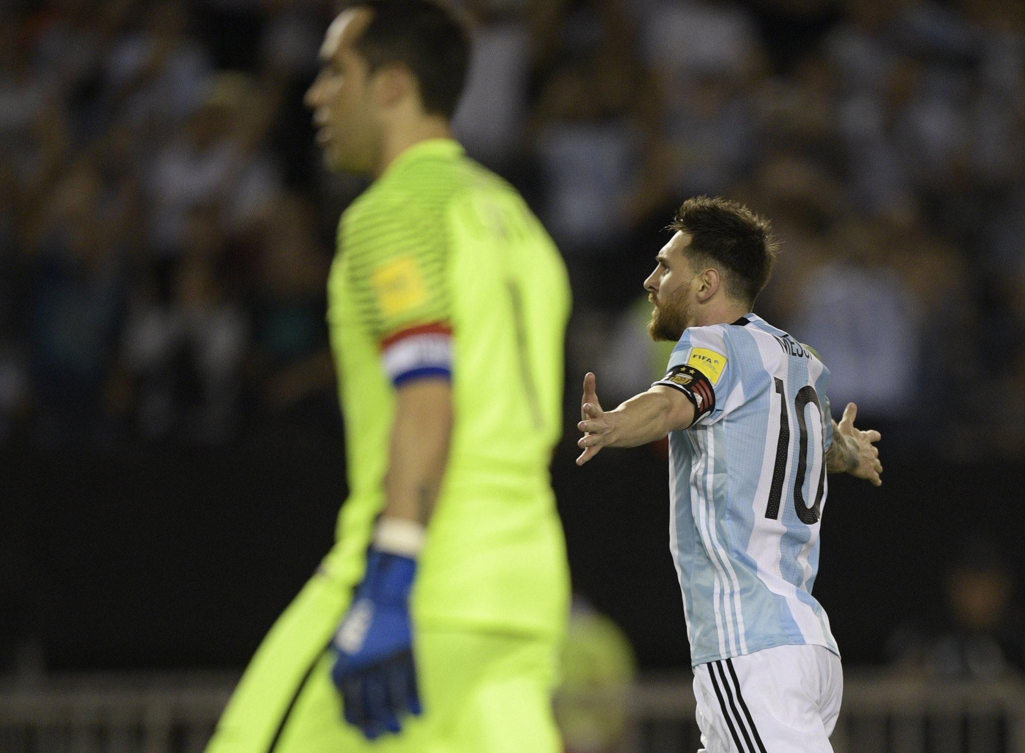 Lionel Messi Argentina Chile World Cup Qualifier