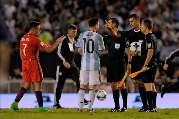 Lionel Messi Argentina Chile World Cup Qualifier