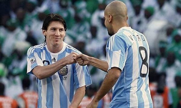 Juan Sebastian Veron Lionel Messi Argentina