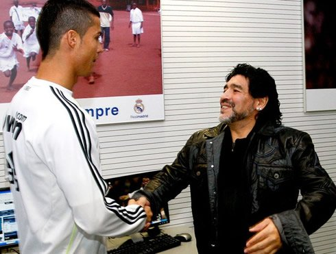 Diego Maradona Cristiano Ronaldo