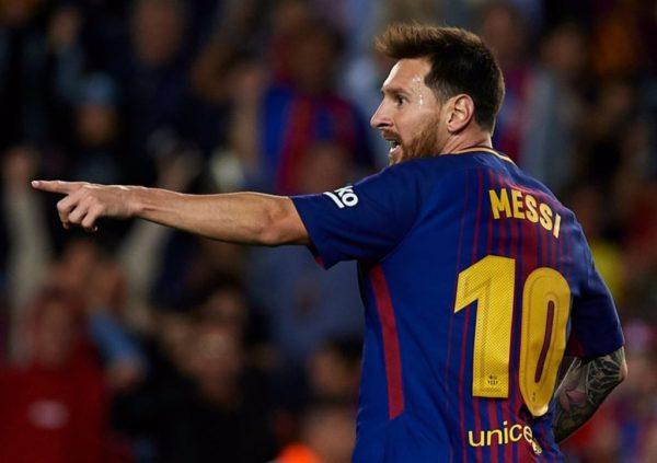 Lionel Messi hat trick Barcelona Espanyol