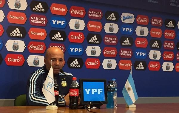 Jorge Sampaoli Argentina press conference