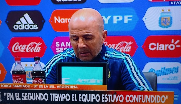 Jorge Sampaoli press conference
