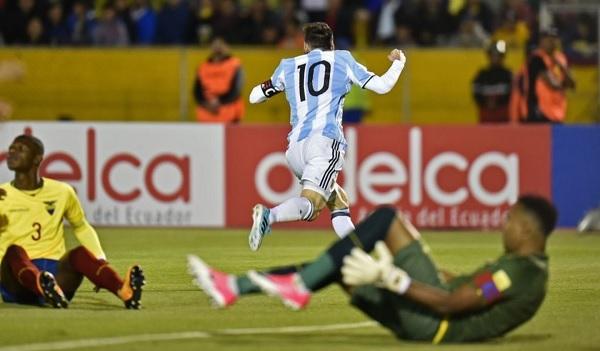 Lionel Messi Ecuador Argentina