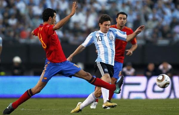 Lionel Messi Argentina Spain
