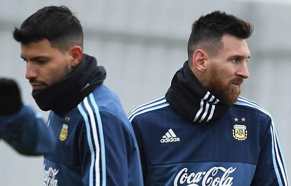 Sergio Aguero and Lionel Messi Argentina