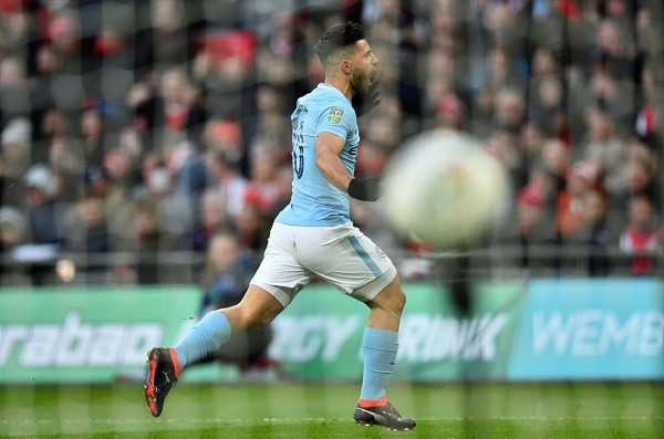 Sergio Aguero Carabao Cup Manchester City