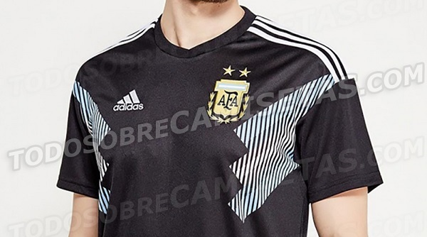2f9e5e6358a Argentina's black away kit Argentina's black away kit. Argentina's black  away kit for the 2018 FIFA World Cup has leaked.