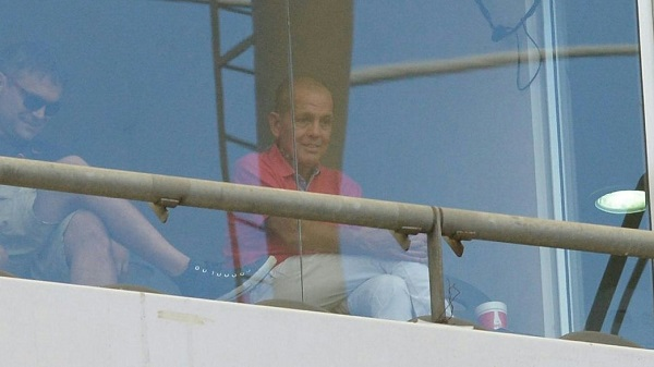Alejandro Sabella attends the Estudiantes de La Plata vs. Newell's Old Boys match.