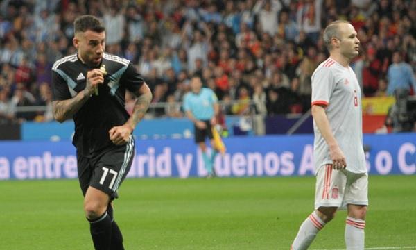 Nicolas Otamendi Argentina 6-1 loss Spain