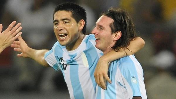 Juan Riquelme Lionel Messi
