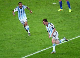 Angel Di Maria Lionel Messi Argentina