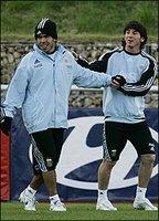 Carlos Tevez Lionel Messi Argentina