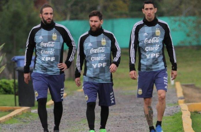 Gonzalo Higuain Lionel Messi Angel Di Maria