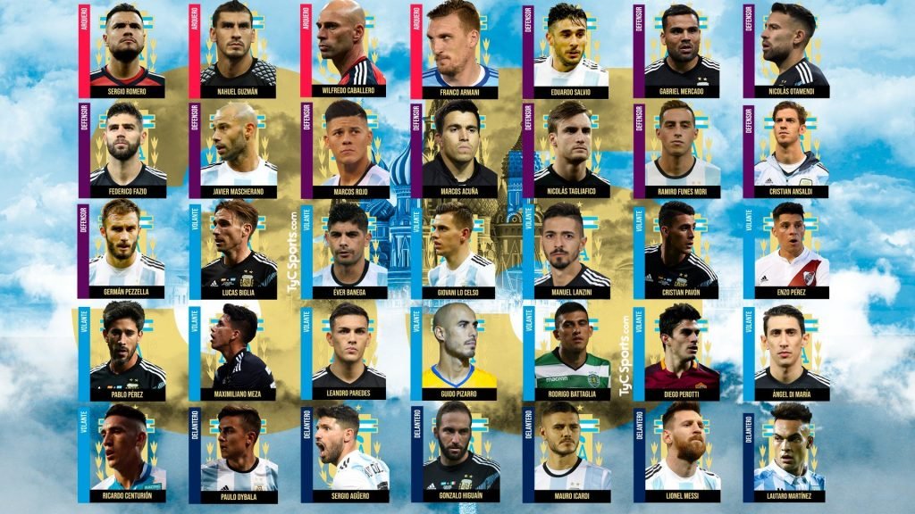 Argentina 35 players