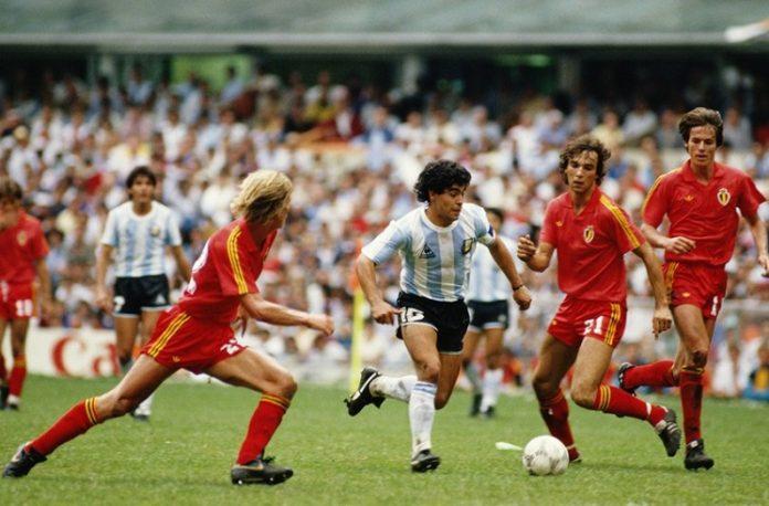 Diego Maradona Argentina Belgium 1986 FIFA World Cup