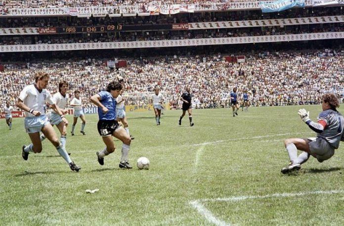 Diego Maradona Argentina England 1986 FIFA World Cup