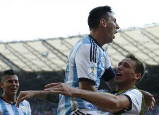 Lionel Messi Lucas Biglia Argentina