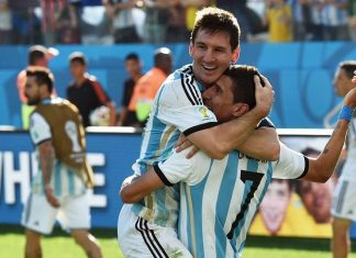 Lionel Messi Angel Di Maria Argentina
