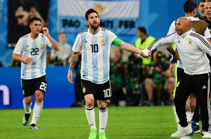 Lionel Messi Cristian Pavon Argentina