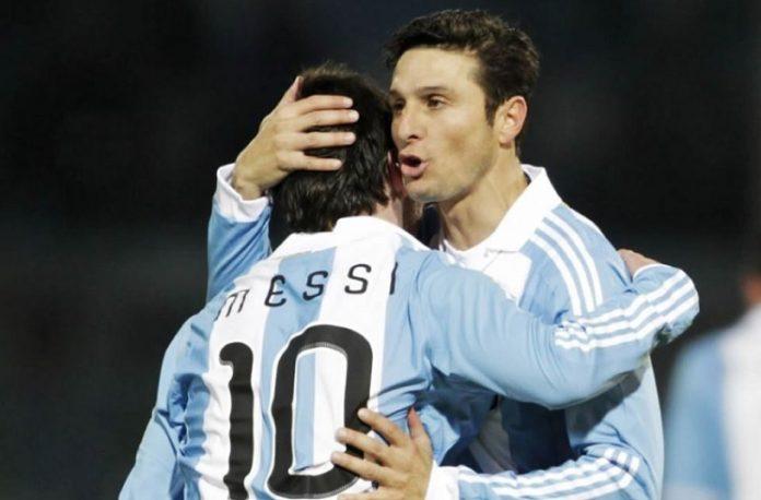 Javier Zanetti Lionel Messi Argentina