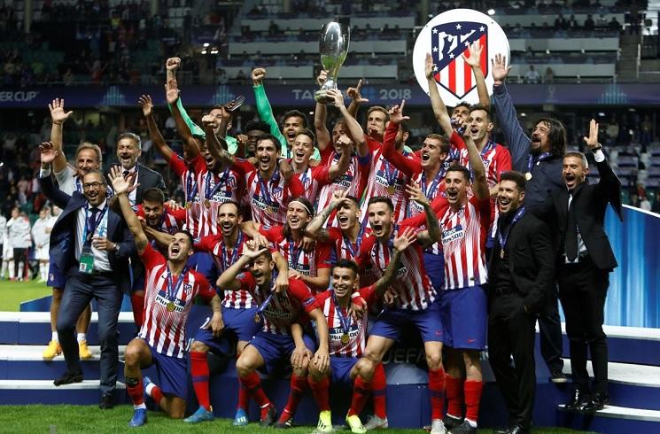 Diego SIMEONE Angel CORREA Win UEFA Super Cup With