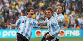 Lionel Messi Gabriel Heinze Argentina
