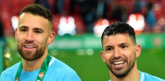 Nicolas Otamendi Sergio Aguero Manchester City