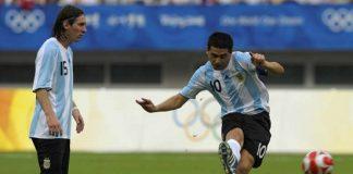 Juan Roman Riquelme Lionel Messi
