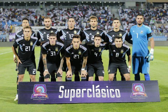 Argentina Iraq line-up