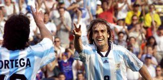 Ariel Orega Gabriel Batistuta Argentina