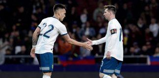 Lautaro Martinez Lionel Messi Argentina