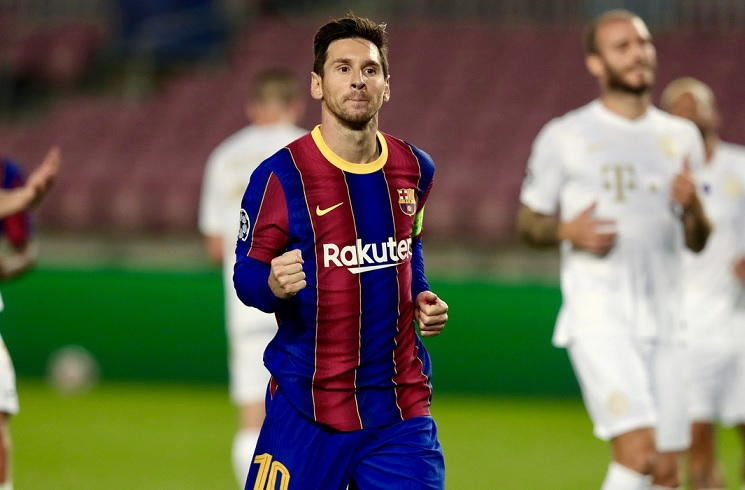 Messi sets record by scoring in 16th straight Champions League season